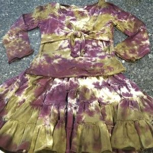 Other - Nwt Bottlecapps tie dye skirts and shirt.